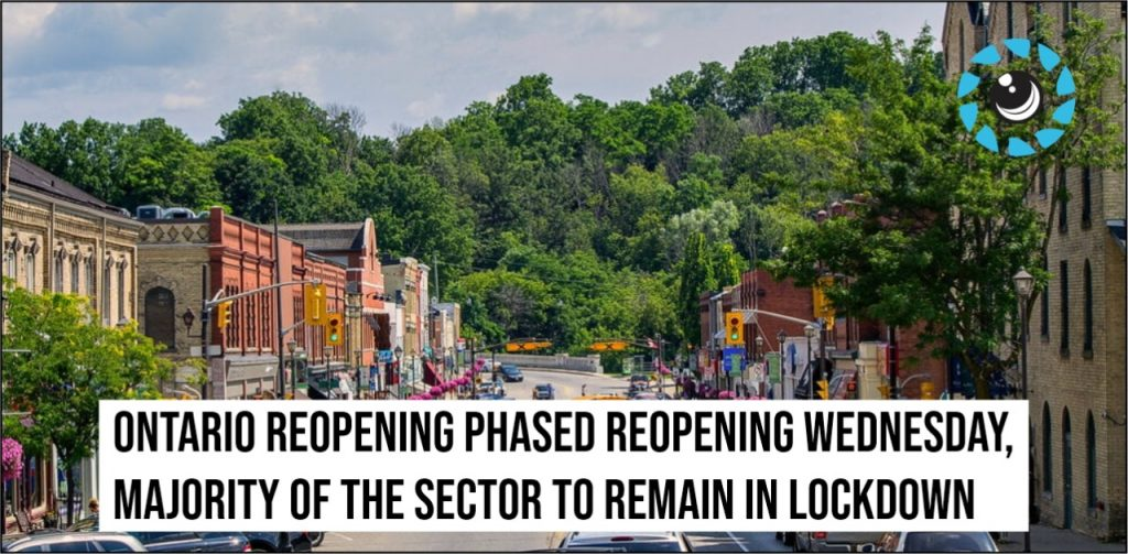 Ontario reopening phased reopening Wednesday, majority of the sector to remain in lockdown